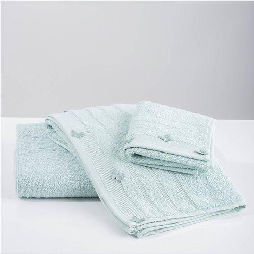 White Fabric Σετ Πετσέτες Butterflies Applique Mint