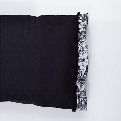 White Fabric Σετ Μαξιλαροθήκες Syrna Μαύρες