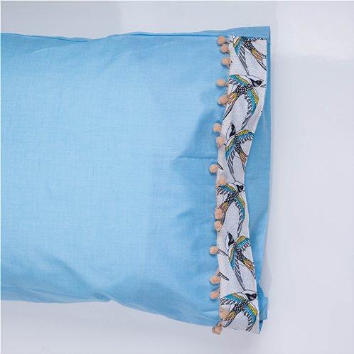 White Fabric Σετ Μαξιλαροθήκες Swallow Σιελ