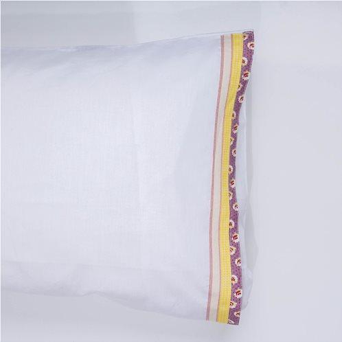 White Fabric Σετ Μαξιλαροθήκες Kitty Λευκές