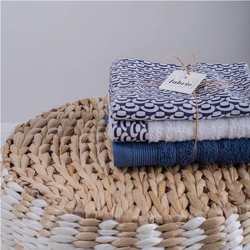 White Fabric Σετ Λαβέτες Telendo