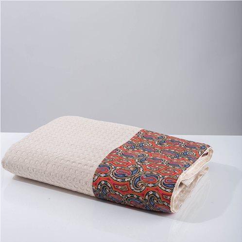 White Fabric Κουβέρτα Layne