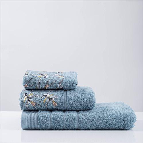 White Fabric Πετσέτα Swallow Aqua Μπάνιου