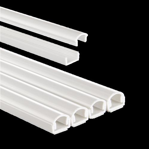 Hama PVC Cable Duct, Semi-Circular, Self-Adhesive, 100/1.1/1.0 cm, white, 4pcs