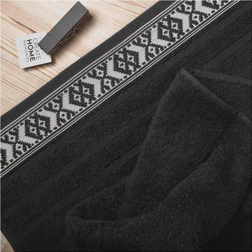 White Fabric Πετσέτα Maribelle Μαύρη Προσώπου