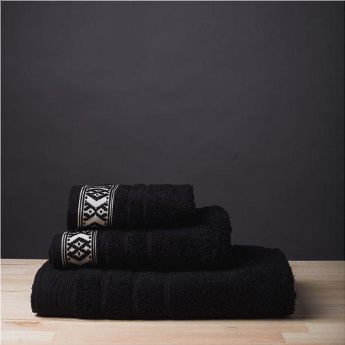 White Fabric Σετ Πετσέτες Maribelle Μαύρες