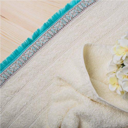 White Fabric Πετσέτα Viola Εκρου Χειρός