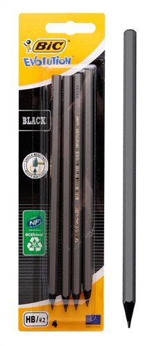 BIC μολύβι γραφίτη 216896016 Evolution εξάγωνο HB μαύρο 4τμχ