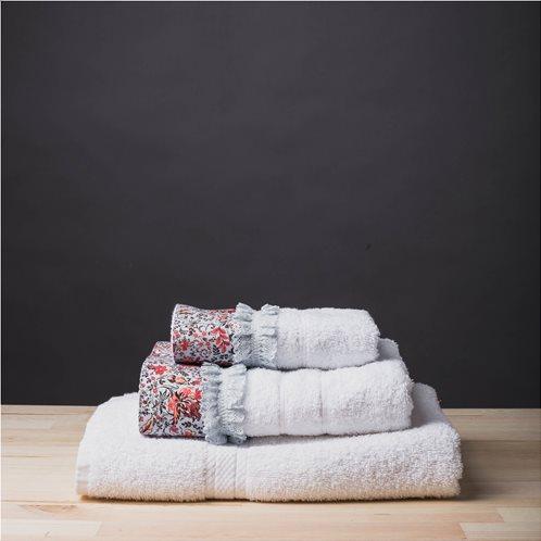 White Fabric Πετσέτα Sasha Άσπρη Μπάνιου