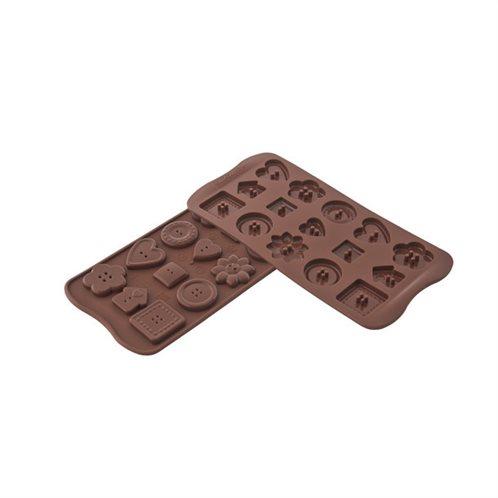 Silikomart Φόρμα Σιλικόνης για 15 Σοκολατάκια Choco Botton
