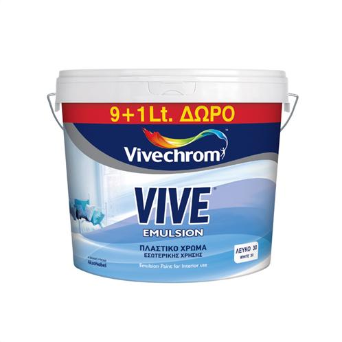 VIVE EMULSION ΛΕΥΚΟ VIVECHROM 9+1LT
