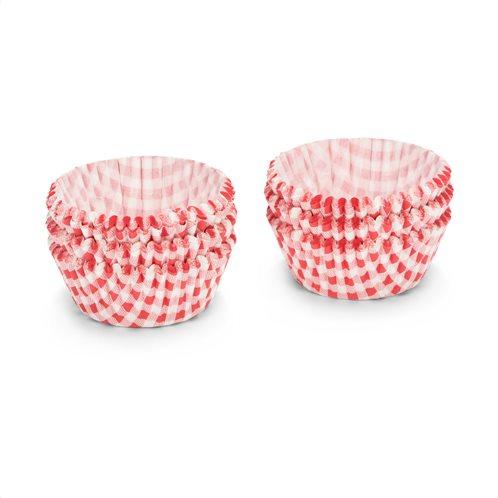 Patisse Θήκες για Cup-Cakes Καρό Κόκκινο-Λευκό Σετ 200τεμ. 5cm.