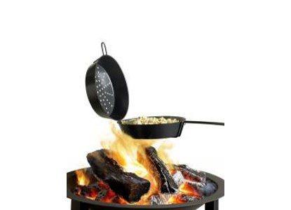 Barbecook Τηγάνι Αντικολλητικό Διπλό για Το Τζάκι Pop Com Φ29cm.