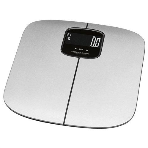 PROFI CARE Ανοξείδωτη ηλεκτρονική ζυγαριά μπάνιου με λιπομέτρηση, 7 σε 1, PC-PW 3006 FA
