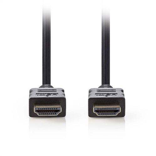 NEDIS Καλώδιο HDMI αρσ. - HDMI αρσ. 0.5m με επίχρυσες επαφές, CVGP34000BK05