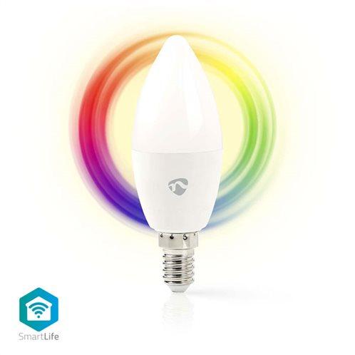 NEDIS Wi-Fi έξυπνη λάμπα RGB LED, E14, 4,5W, 350lm, WIFILC10WTE14