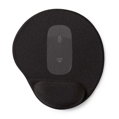 NEDIS Mousepad με μαξιλαράκι gel για την στήριξη του καρπού, MPADFG100BK