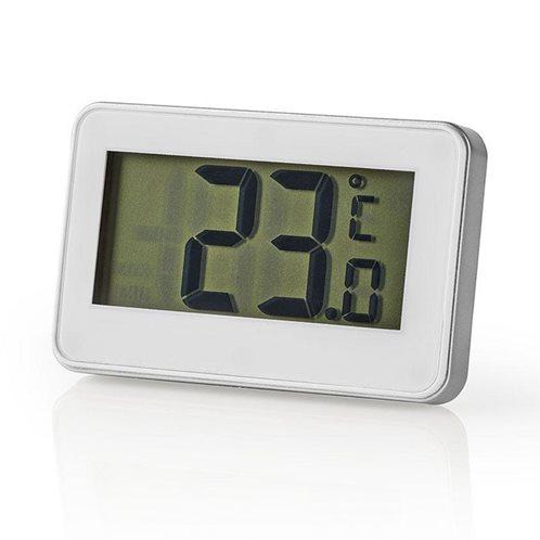 NEDIS Ψηφιακό θερμόμετρο ψυγείου, σε άσπρο χρώμα με ασημί περίγραμμα, KATH101WT