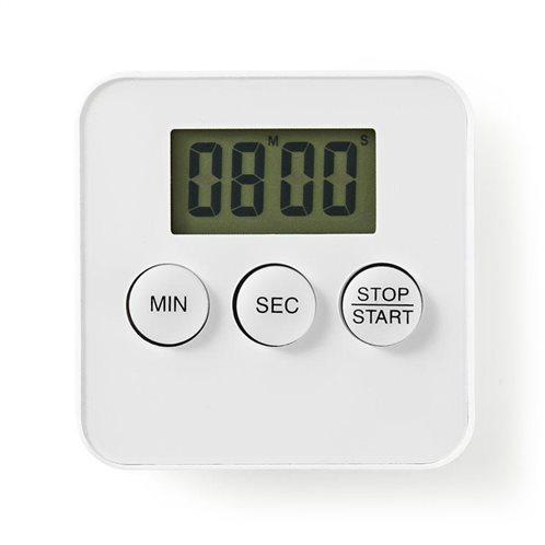 NEDIS Ψηφιακό χρονόμετρο κουζίνας, σε λευκό χρώμα, KATR101WT