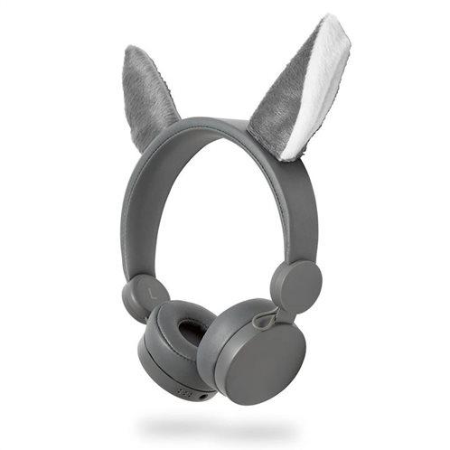 NEDIS On-ear ενσύρματα ακουστικά NEDIS Animaticks Willy Wolf, HPWD4000GY