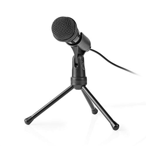 NEDIS Ενσύρματο μικρόφωνο με τρίποδα και καλώδιο 1.8m, MICTJ100BK