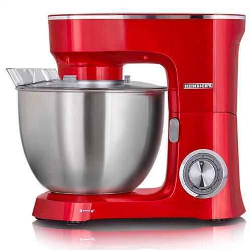 HEINRICH'S Κουζινομηχανή με κάδο μίξης 8L σε κόκκινο χρώμα, 1400W.  KM 8078 red