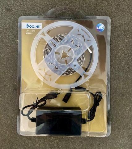 FOS_ME Λεντοταινία 5Μέτρα , 24W IP20 θερμό φως με τροφοδοτικό