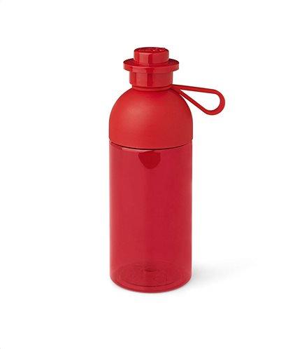LEGO® lego hydration bottle 0,5l tansparent red