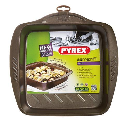 Pyrex  Αντικολλητικό Ταψί Τετράγωνο 24×24εκ. Asimetria