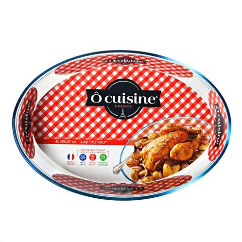 Πυράντοχο Γυάλινο Ταψί Οβάλ 39×27εκ. 347 Ô cuisine
