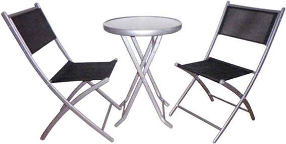 Campus Σετ Τραπέζι Στρογγυλό με Δύο Καρέκλες Text , Ανθρακί