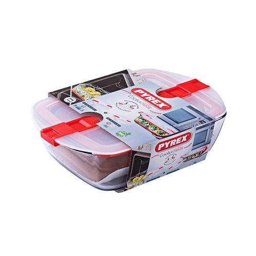 Σετ 2 Ορθογώνια Φαγητοδοχεία Cook&Heat 213+216PH Pyrex