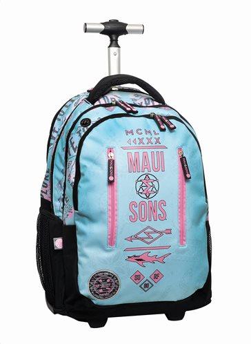 Maui & Sons Σχολική Τσάντα Τρόλεϋ Δημοτικού Explore Back Me Up