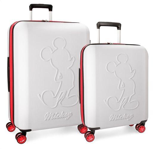 Disney Βαλίτσα καμπίνας trolley 55x20x40cm Mickey Colored Blanco