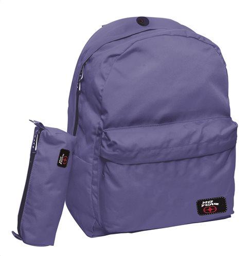 No Fear Σχολική Τσάντα Πλάτης Γυμνασίου-Λυκείου Classy Purple GIM & ΔΩΡΟ Κασετίνα Βαρελάκι