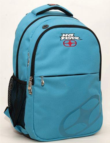 No fear Σχολική Τσάντα Πλάτης Γυμνασίου-Λυκείου Classy Light Blue Oval GIM