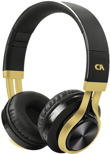 CRYSTAL AUDIO ON EAR  Ακουστικά OE-02-KG BLACK-GOLD