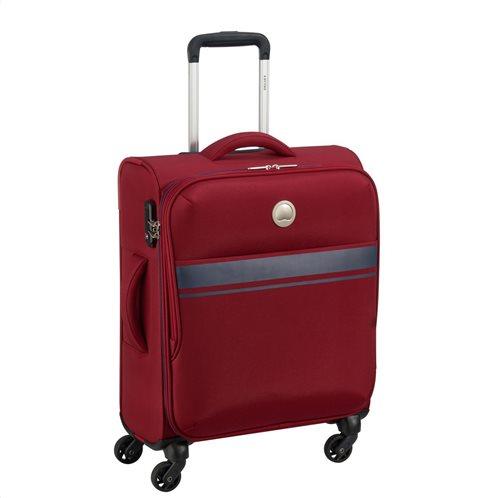 Delsey Βαλίτσα trolley slim 55x40x20cm σειρά OUJDA χρώμα Red