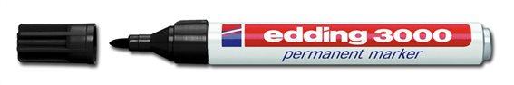 EDDING ανεξίτηλος μαρκαδόρος 3000 1.5-3mm επαναγεμιζόμενος μαύρος