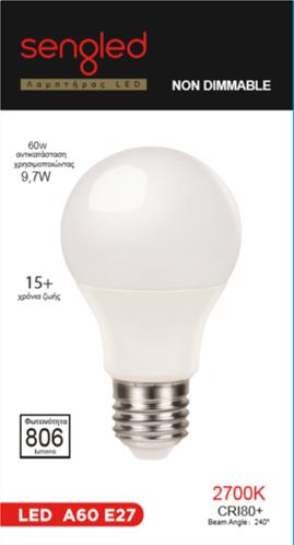 Sengled Λάμπα LED E27 9,7W 2700K 806lm