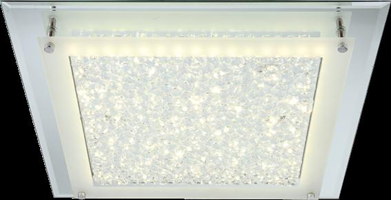 Globo Lighting Πλαφονιέρες LIANA μονόφωτο νίκελ  1xLED