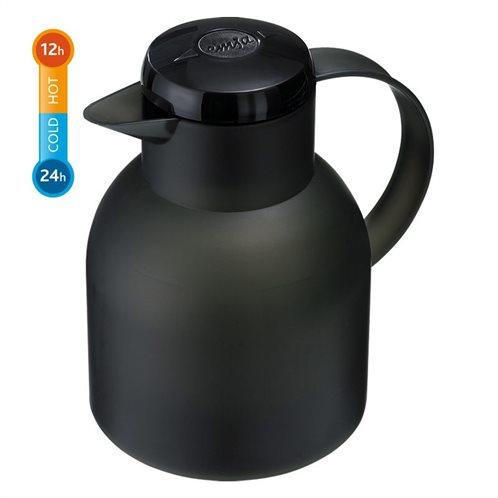 Emsa Θερμομονωτική Κανάτα Μαύρη 1lt. Samba
