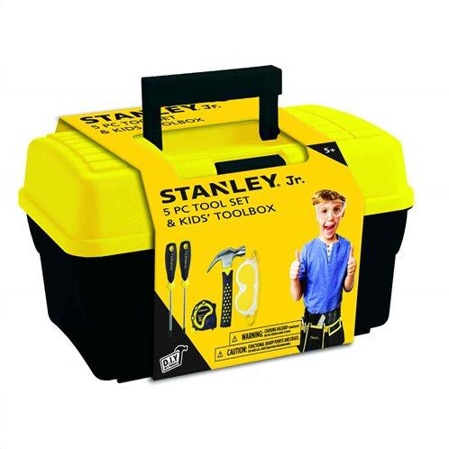 Stanley Jr Σετ εργαλείων 5τμχ για παιδικά χέρια & εργαλειοθήκη 51548