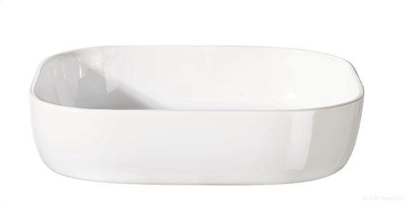 Asa Πυρίμαχο Σκεύος Xl Πορσελάνης Λευκό 30x30cm. H7cm. Grande