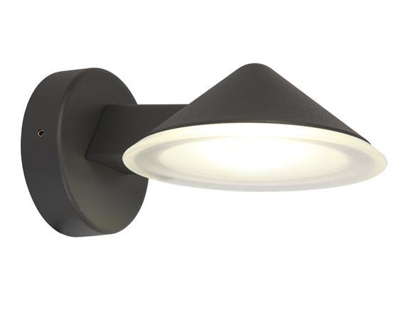 Lutec Απλίκα Φωτιστικό LED 12W Cone Εξωτερικού χώρου IP54 Σκούρο Γκρι