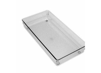 Interdesign Θήκη Διάφανη Παραλληλόγραμμη 15x30x5cm. Linus