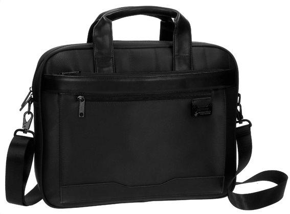 "Beverly Hills Polo Club Χαρτοφύλακας για laptop 15"" 40x32x8cm σειρά Bolt Black"