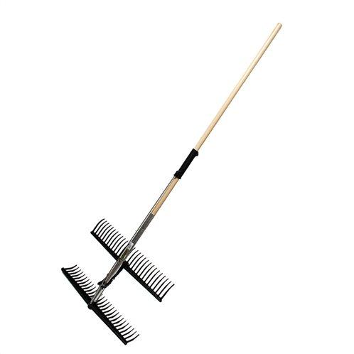 Τσουγκράνα ''2 σε 1'' ρυθμιζόμενη με ξύλινη λαβή 165 cm
