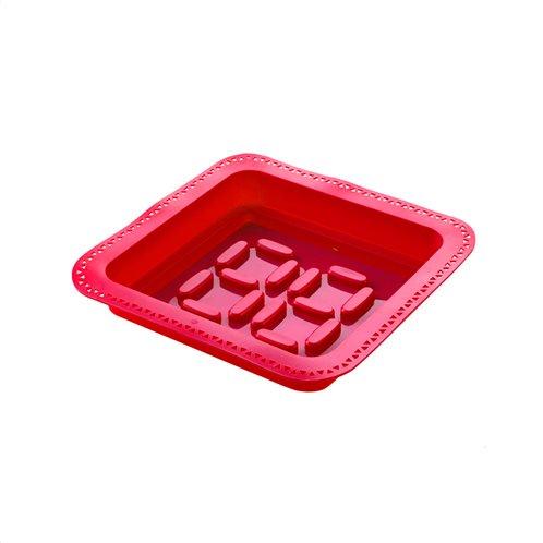 E-my Φόρμα Σιλικόνης Κόκκινη με Κορνέ Squary