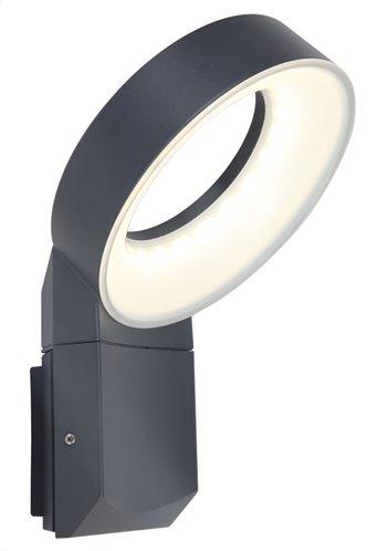 Lutec Απλίκα Φωτιστικό LED 14W Meridian Small  Εξωτερικού χώρου IP54 Σκούρο Γκρι